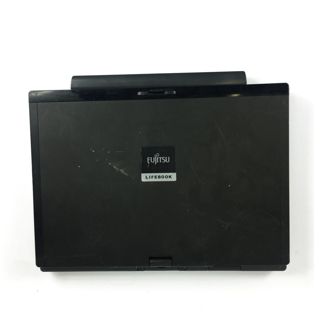 Fujitsu lifeboat laptop closed lid turned to left side