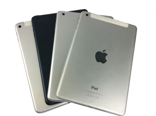 iPad piled up together after repair
