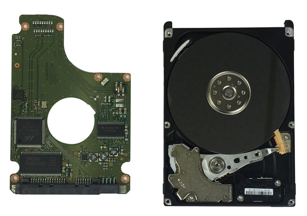 Printed Circuit Board of Hard Disk with Hard Disk Drive Platter