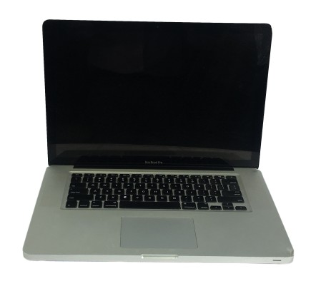 MacBook Pro black screen with a dent for repair