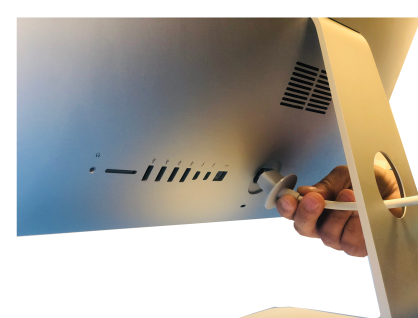 iMac Power Cord Removing from iMac