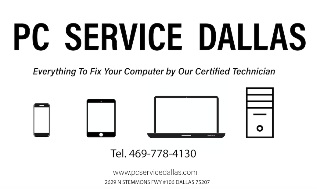 PC Service Dallas- Computer Laptop Mac Virus Hard drive Data - iPhone Screen Repair Dallas