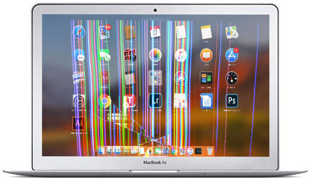 Broken MacBook Air Screen Replacement Service For Highland Park Area