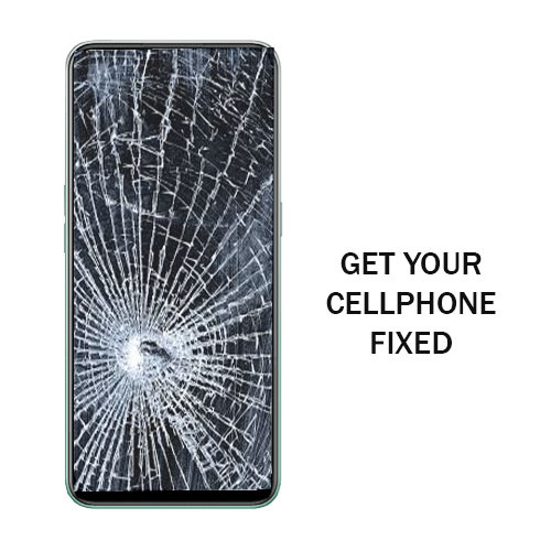 Cracked cellphone screen repair near Dallas